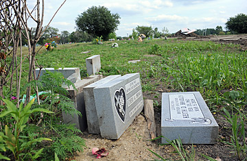 graves destroyed in chicago cemetery time