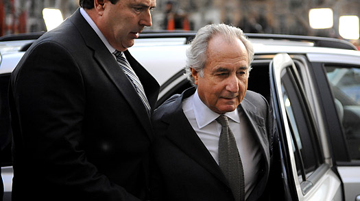 Bernard Madoff arrives at federal court in New York City on March 12, 2009