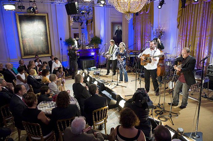 Alison Krauss and Union Station perform for President Obama, his family and invited guests at a celebration of country music in the East Room of the White House.