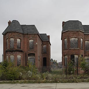 Abandoned homes in Detroit.