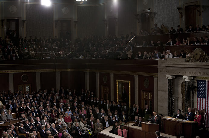 President Obama addresses the 111th Congress in a joint session on the need for health care reform.