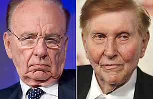Rupert Murdoch, Chairman and CEO of News Corporation and Sumner Redstone media executives