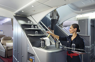 The air france a380 superjumbo aircraft takes off time for Interieur avion air france