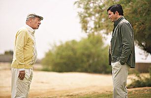 McKellen, far left, and Caviezel, reprise a rivalry but with different results