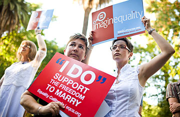 Same sex marriage legalized in california