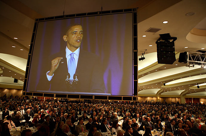 President Barack Obama speaks at the 58th National Prayer Breakfast in Washington D.C. about bringing back civility and compromise to American politics.