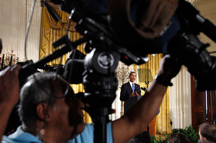 President Barack Obama answers questions during a news conference in the East Room of the White House in Washington, Thursday, May 27, 2010.