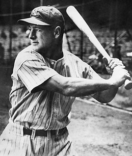 Lou Gehrig of the New York