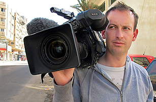 French journalist Gilles Jacquier is seen in this undated picture released by France Television, January 11, 2012. Cameraman Jacquier was among several people killed in Syria's central city of Homs on Wednesday, becoming the first Western reporter to have died in 10 months of unrest in the country