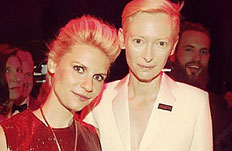 Claire Danes and Tilda Swinton looking lovely as ever at the TIME100 Gala.