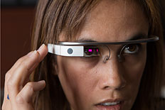 ftware developer Monica Wilkinson wears Google Glass at Crushpath in San Francisco,California, on April 27, 2013.