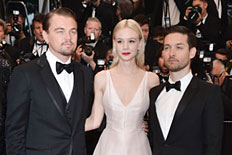Actors Leonardo DiCaprio, Carey Mulligan and Tobey Maguire attend the Opening Ceremony and Premiere of 'The Great Gatsby' at The 66th Annual Cannes Film Festival at Palais des Festivals on May 15, 2013.