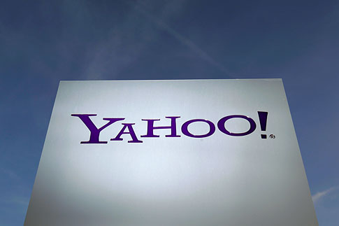 A Yahoo logo is pictured in Rolle, east of Geneva, Dec. 12, 2012.