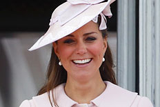 Catherine, Duchess of Cambridge stands on the balcony of Buckingham Palace during the annual Trooping the Colour Ceremony on June 15, 2013 in London, England.