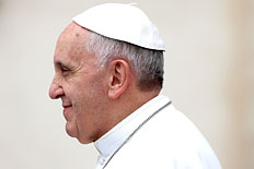 Pope Francis attends his weekly audience in St. Peter's square on Nov. 20, 2013 in Vatican City.