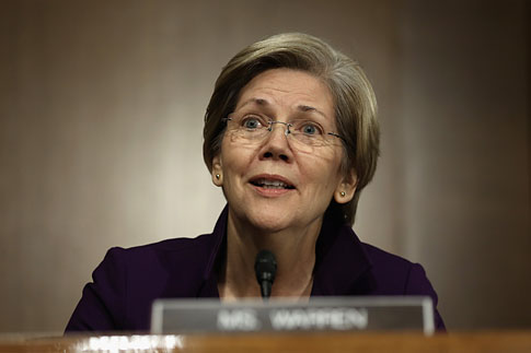 Senator Elizabeth Warren during a confirmation hearing for Nominee for the Federal Reserve Board Chairman Janet Yellen, on Nov. 14, 2013 on Capitol Hill in Washington, D.C.