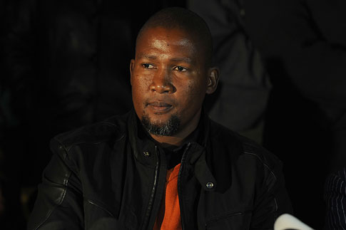 Mandla Mandela, grandson of former president Nelson Mandela, at a news conference in Mvezo, South Africa, July 4, 2013.