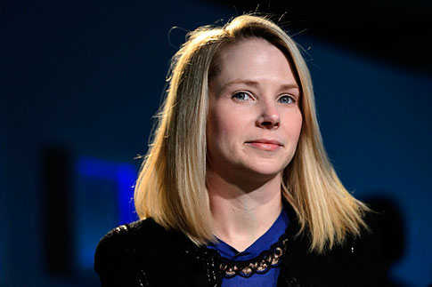 Marissa Mayer, Chief Executive Officer of Yahoo!, at the 43rd Annual Meeting of the World Economic Forum, WEF, in Davos, Switzerland, on Jan. 25, 2013.