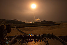 A Japanese rocket with the American-Japanese Global Precipitation Measurement (GPM) Core Observatory onboard launches from the Tanegashima Space Center, on Feb. 28, 2014, in Tanegashima, Japan.