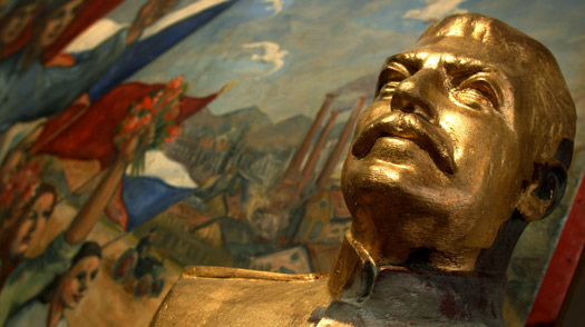 Statue of J. V. Stalin is seen in the Museum of Communism in Prague, Czech Republic, March 4, 2004.