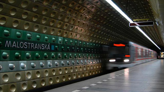 Soviet Built Metro Station in Prague