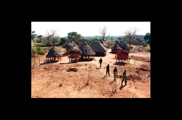 The village of Lusitu has suffered badly from the prolonged drought in Africa