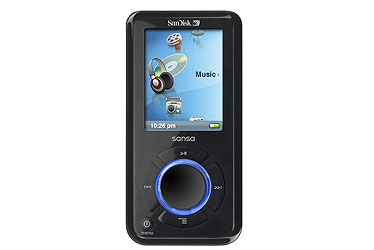 SanDisk e200 series MP3 player graphic