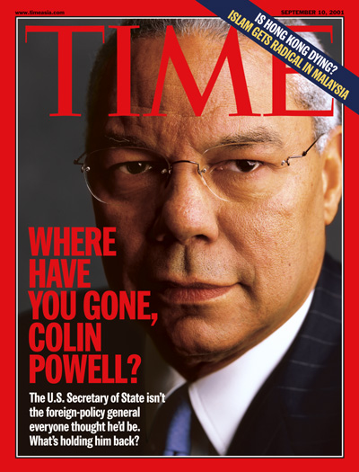 A close up photo of Colin Powell