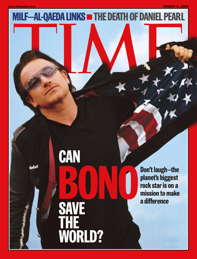 A photo of Bono from U2