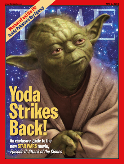 An illustration showing Yoda from the Star Wars movies.