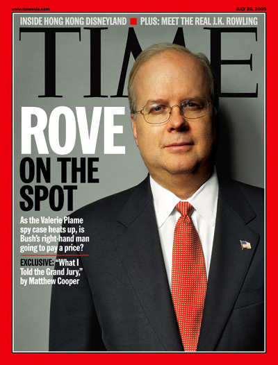 Medium shot of Karl Rove