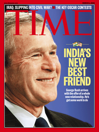 U.S President George W. Bush visits India