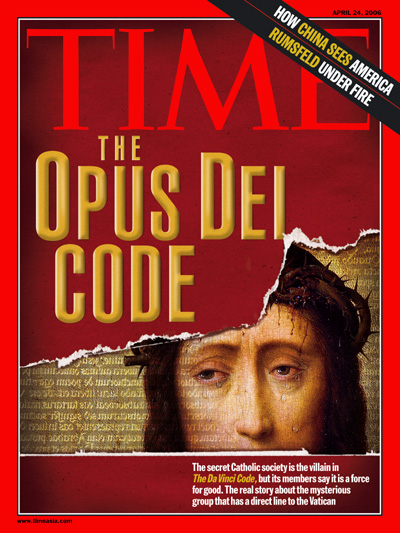 Torn picture, representing The Da Vinci Code,