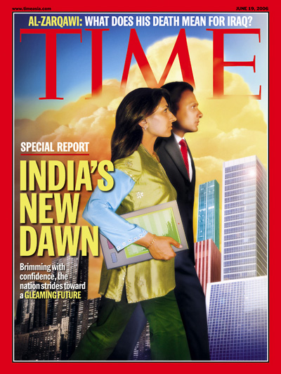 time magazine cover india 39 s new dawn june 19 2006 india economy lifestyle boom. Black Bedroom Furniture Sets. Home Design Ideas