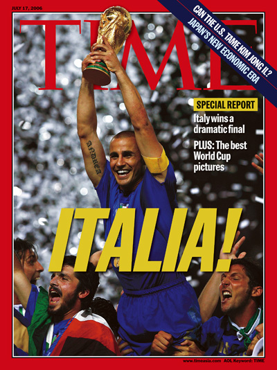 A photograph of the Italian national team celebrating their World Cup victory.