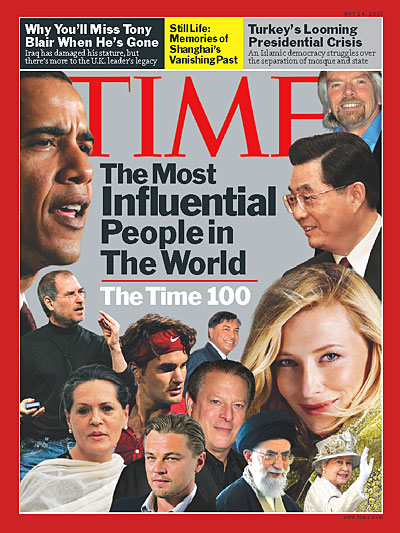 A photomontage of some of the most influential people in the world.