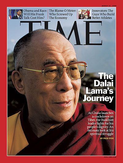A close up photo of the Dalai Lama