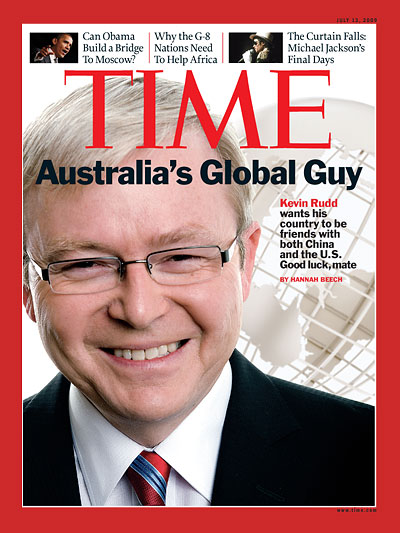 Kevin Rudd wants his country to be friends with both China and the U.S. Good luck, mate