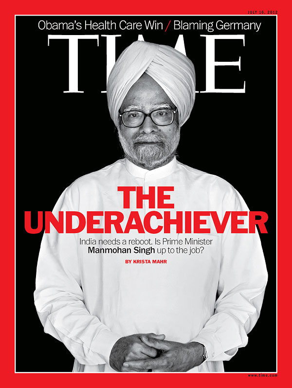 portrait of India's Prime Minister Manmohan Singh