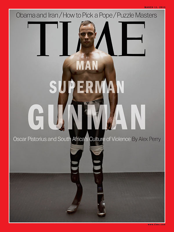 A full-length portrait of Oscar Pistorius