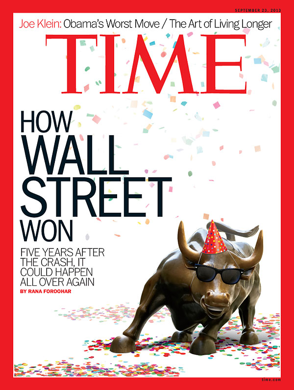 The Wall Street Bull with confetti