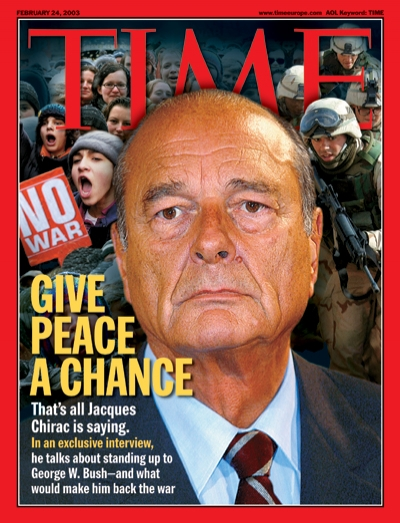 That's all Jacques Chirac is saying. In an exclusive interview, he talks about standing up to George W. Bush—and what would make him back the war