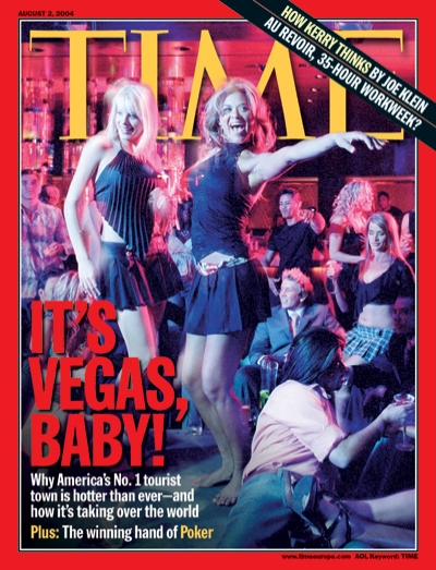A picture of two women dancing in Las Vegas.