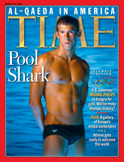 A picture of Michael Phelps.