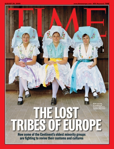 A photo of european women in traditional dress.