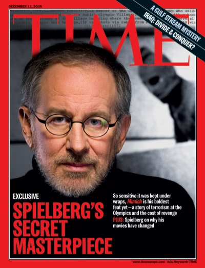 A portrait of Steven Spielberg