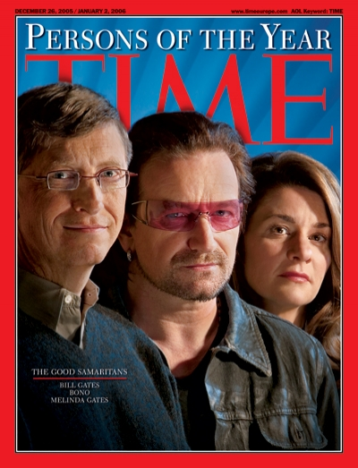 Bill Gates, Bono and Melinda Gates: three people on a global mission to end poverty, disease and indifference.