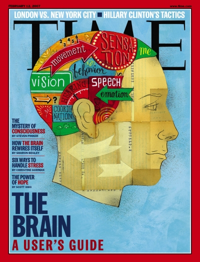 A photo illustration depicting the usage of the human brain.