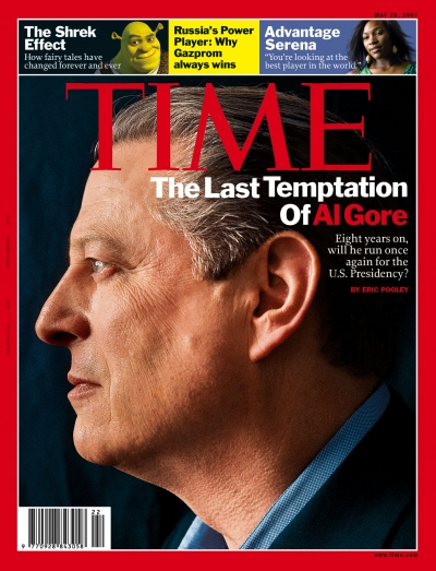 Close-up profile photo of Al Gore