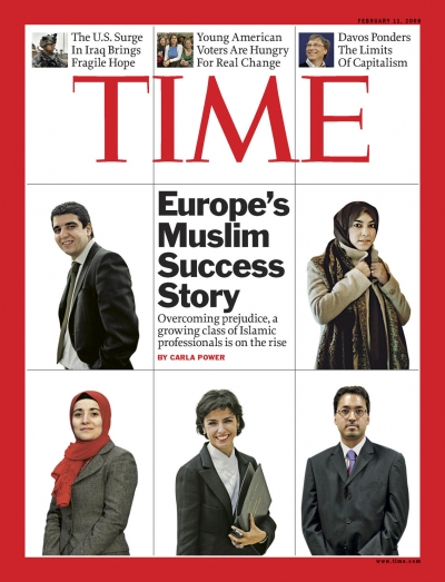 Pictures of successful Islamic professionals.